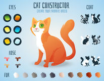 Cute cat breed constructor. You can create your stock illustration