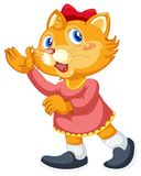 A cute cat cartoon character. Illustration royalty free illustration