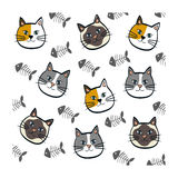 Cute cat cartoon Royalty Free Stock Photos