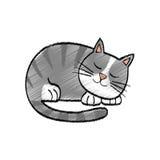 Cute cat cartoon. Icon  illustration graphic design Royalty Free Stock Photo