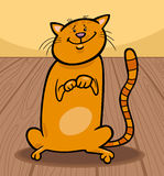 Cute cat cartoon illustration Royalty Free Stock Photos
