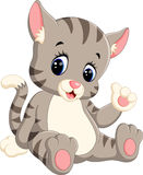 Cute cat cartoon. Illustration of cute cat cartoon Royalty Free Stock Photo