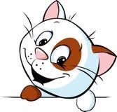 Cute cat cartoon peeking - vector Royalty Free Stock Photo