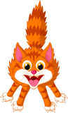 Cute cat cartoon screaming Royalty Free Stock Photo