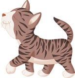 Cute cat cartoon walking Royalty Free Stock Photos