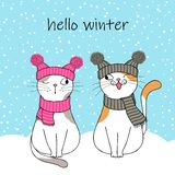Cute Cat Character Stock Images