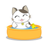 Cute cat character. Isolated on white background stock illustration
