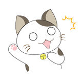 Cute cat character Royalty Free Stock Image