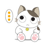 Cute cat character Royalty Free Stock Images