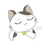 Cute cat character Stock Photography