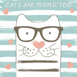 Cute cat with glasses Royalty Free Stock Image