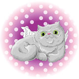 Cute cat. Illustration of a cute cat Stock Photography