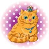 Cute cat. Illustration of a cute cat Stock Image