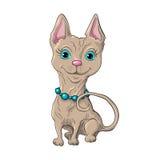 Cute cat. Illustration of a cute cat Stock Photo