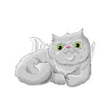 Cute cat. Illustration of a cute cat Stock Images