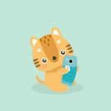 Cute cat illustration. Stock Images