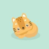Cute cat illustration. Royalty Free Stock Image