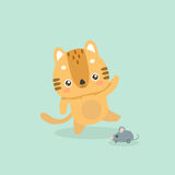Cute cat illustration. Royalty Free Stock Images