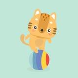 Cute cat illustration. Stock Photos