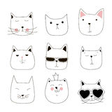 Cute cat illustration series Stock Images