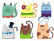 Cute cat illustration series Stock Photo