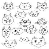 Cute cat illustration set.  Royalty Free Stock Image