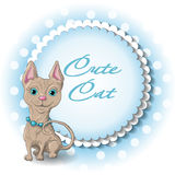 Cute cat. Illustration of a cute cat sphinx Stock Photo