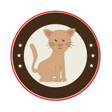 Cute cat mascot icon Royalty Free Stock Photos