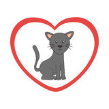 Cute cat mascot icon Royalty Free Stock Photo
