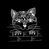 Cute cat peeping. Cartoon style. Stock Photos