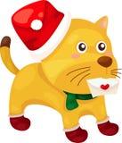 Cute cat sending christmas card Stock Photos