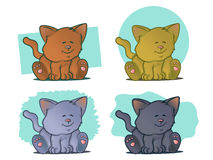 Cute Cat Set Stock Photography