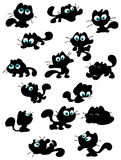 Cute cat silhouettes Stock Image