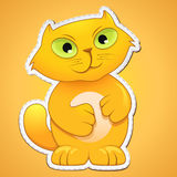 Cute cat sticker Royalty Free Stock Photos