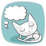 Cute Cat Thoughts Stock Photography