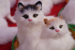 Cute cat toys Royalty Free Stock Images