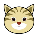 Cute Cat Vector. Cute animal faces in  (One of 25 of them Stock Image