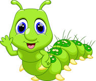 Cute caterpillar cartoon Royalty Free Stock Photography