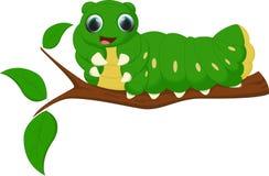 Cute caterpillar cartoon Royalty Free Stock Photos
