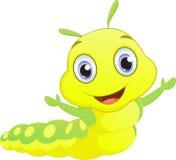 Cute caterpillar cartoon Royalty Free Stock Photography