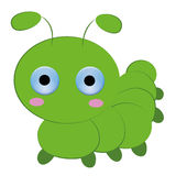 Cute caterpillar cartoon on white background Royalty Free Stock Photo