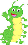 Cute caterpillar waving cartoon Stock Photography