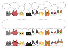 Cute cats border set Royalty Free Stock Images