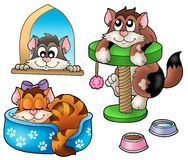 Cute cats collection. Color illustration Royalty Free Stock Photography