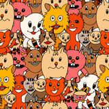 Cute cats colorful background Stock Photos