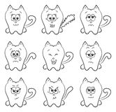 Cute cats emotions Stock Image