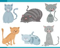 Cute cats and kittens characters set Stock Image