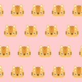 Cute cats pattern. Cute cats pattern on pastel background Royalty Free Stock Photo
