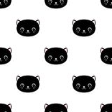 Cute cats seamless pattern, little kittens, texture for wallpapers, fabric, wrap, web page backgrounds, vector illustration. Design stock illustration