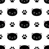 Cute cats seamless pattern, little kittens, texture for wallpapers, fabric, wrap, web page backgrounds, vector illustration. Design vector illustration